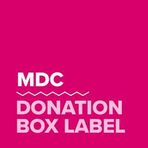 donation box label