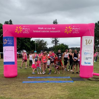 Charity run for breast cancer research in Port Macquarie, NSW