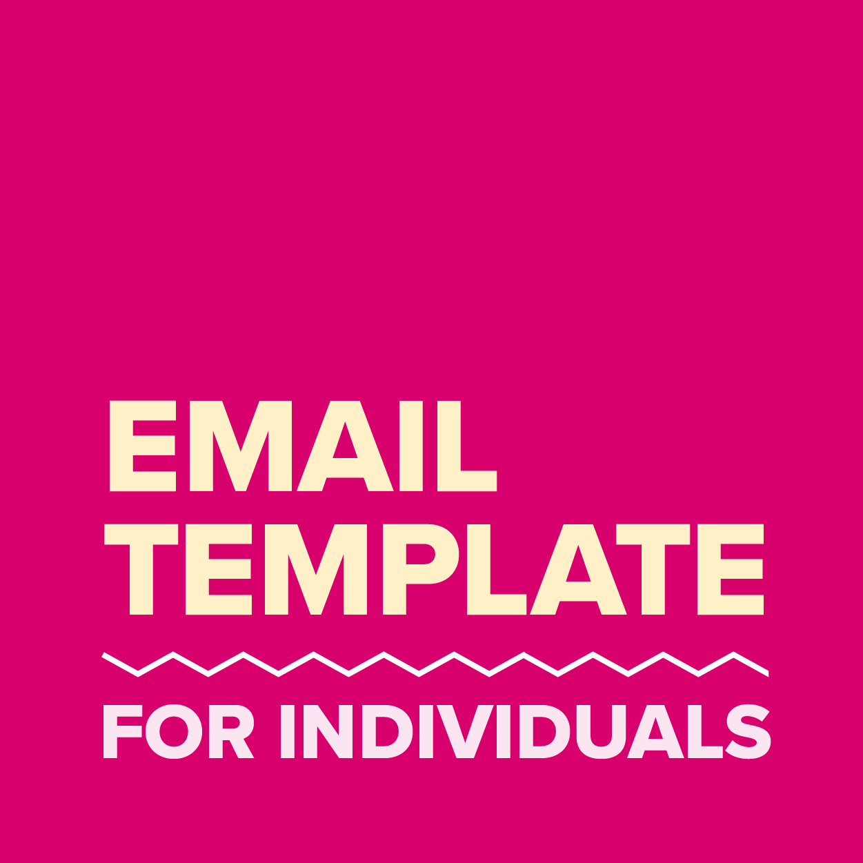 Email Template - Individuals