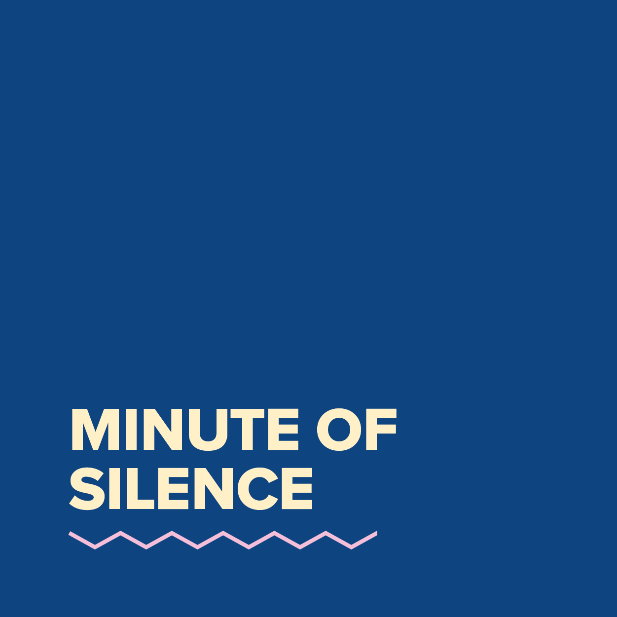 MDC2021_Minute of silence