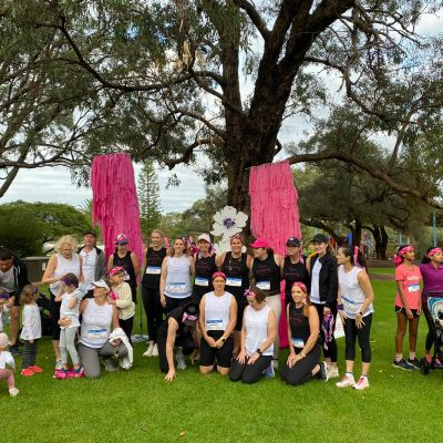 Group photo of team participating in Mother's Day Classic walk